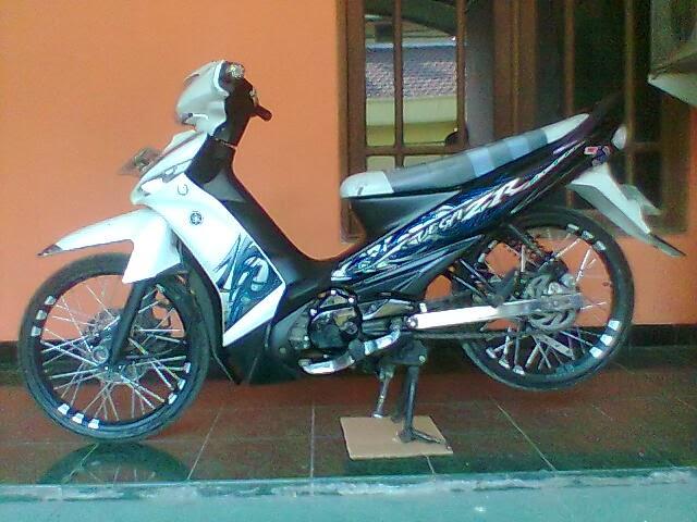 Modifikasi Motor Yamaha Vega ZR Semakin Canggih Tampil Prima