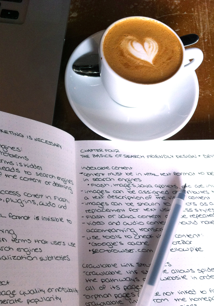 SEO notes, The Workshop Coffee Co., London