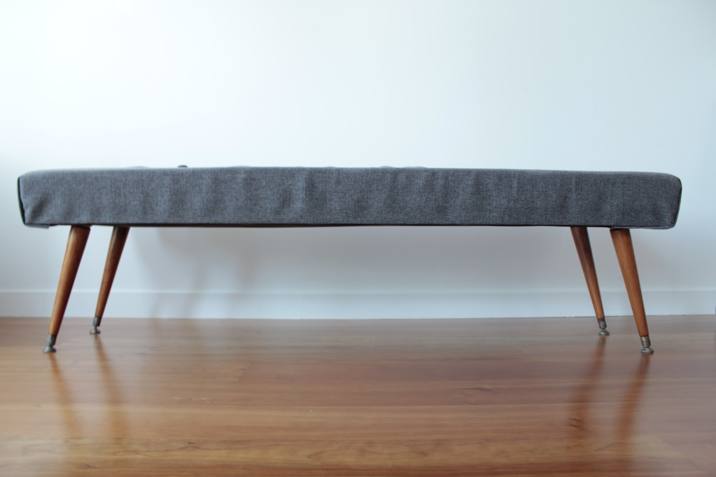 We are aiming for a Mid Century Modern look. The place is currently a work - Mid Century Dining Bench Kenshair Design