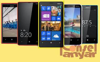 NOKIA+LUMIA+ALL+SERIES Harga HP Nokia Baru dan Bekas Semua Tipe Update Agustus 2014