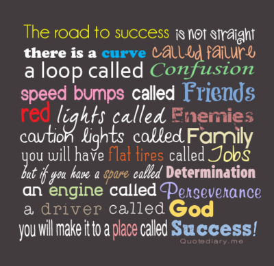 Quote diary the road to success scaled500