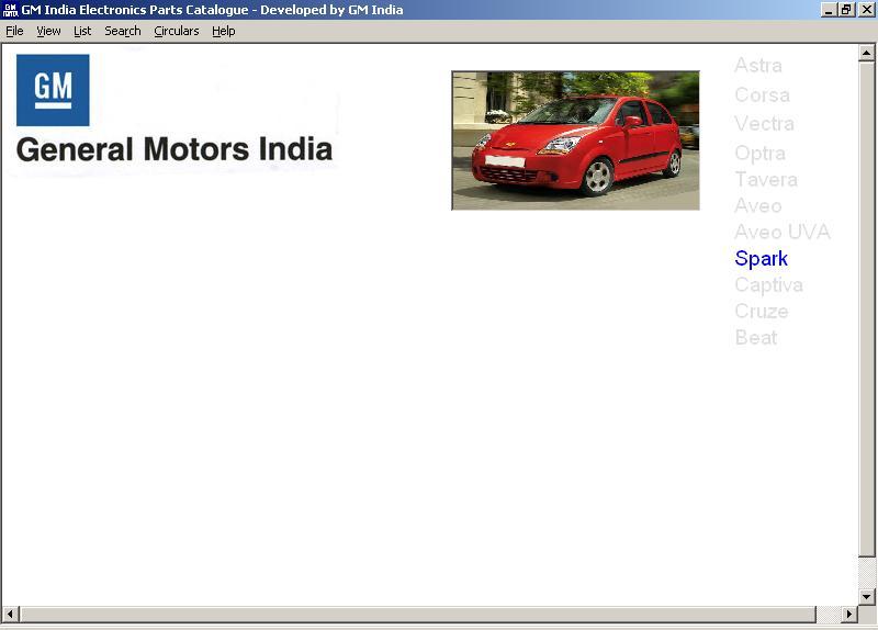 AutoParts Catalogs: GENERAL MOTORS - INDIA (Private)