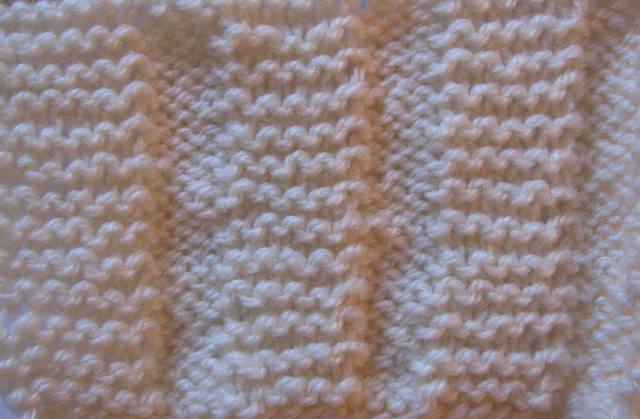 Knitting Stitch Variations : The Wool Shop: How to knit a Garter Stitch Variation