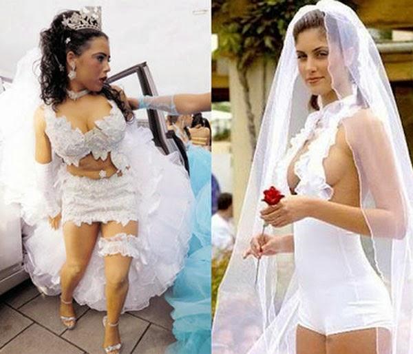 أغرب فساتين زفاف يمكن أن تشاهدها