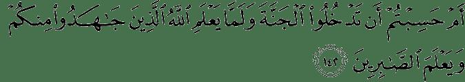 Surat Ali Imran Ayat 142