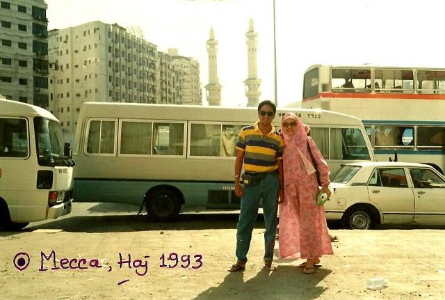 Haji Pertama Ikang Fawzi dan Marissa Haque, 1993, Mekah