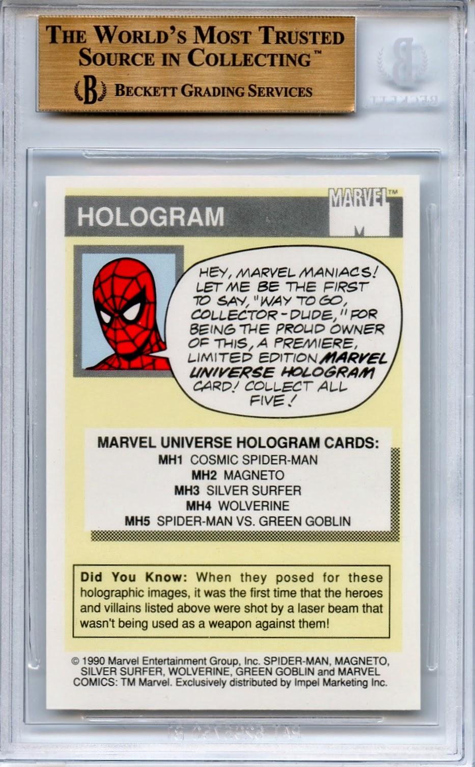 Graded Marvel Cards 1990 Impel Marvel Universe Hologram Cosmic