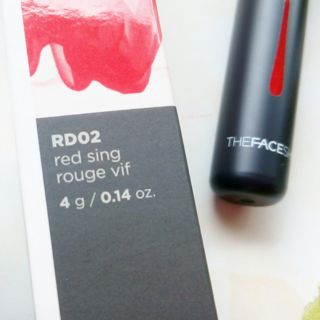 The Face Shop Ink Lipquid RD02 Red Sing Review Swatches Pinkuroom