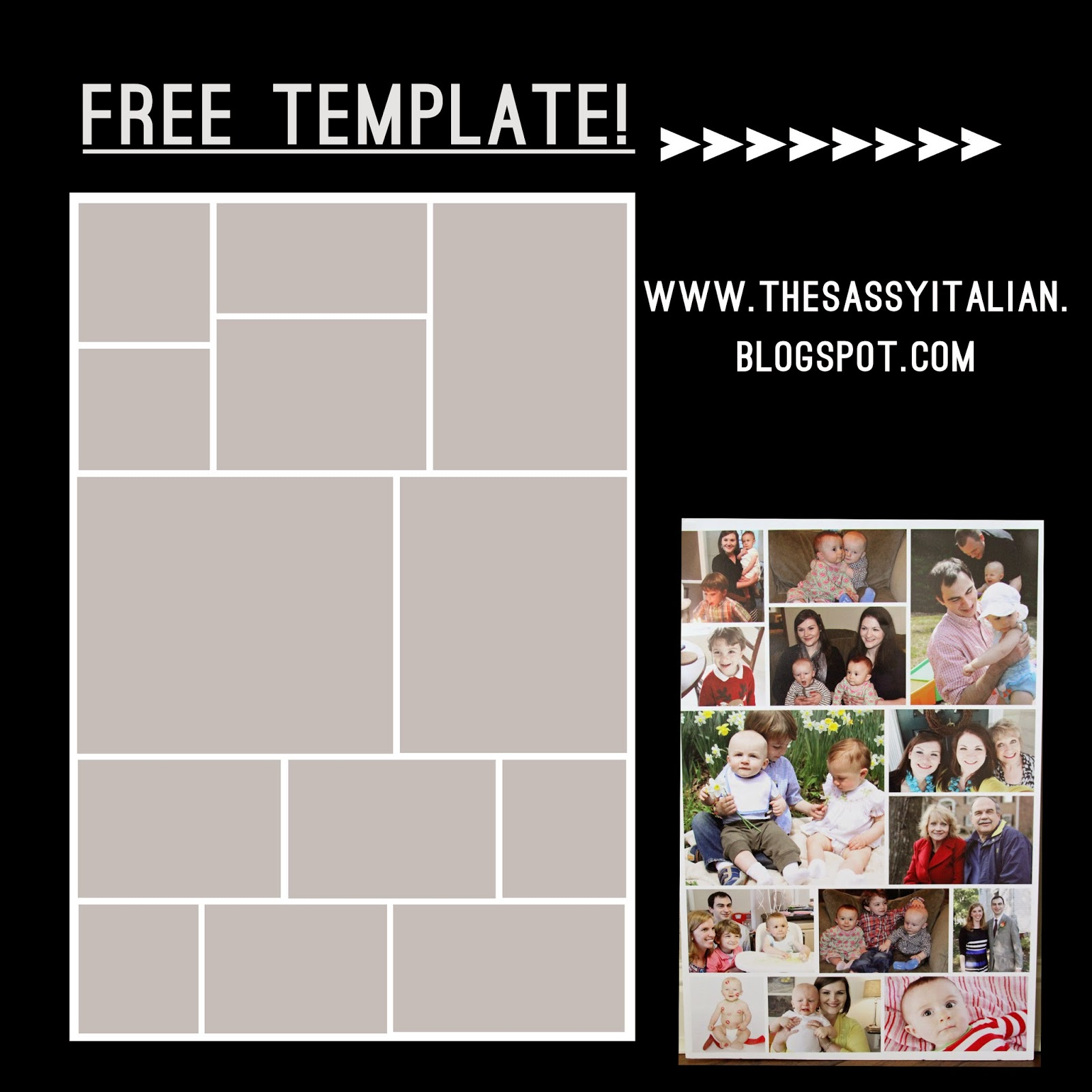 The Sassy Italian How To Create Poster Collage Free Template
