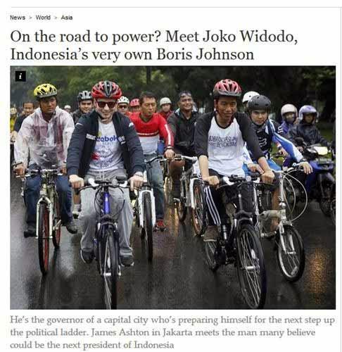 Sosok Fenomenal Jokowi Diliput di Koran Inggris