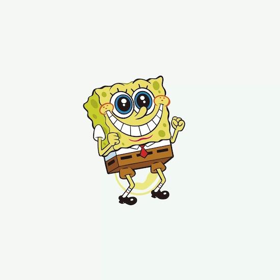Happy spongebob face