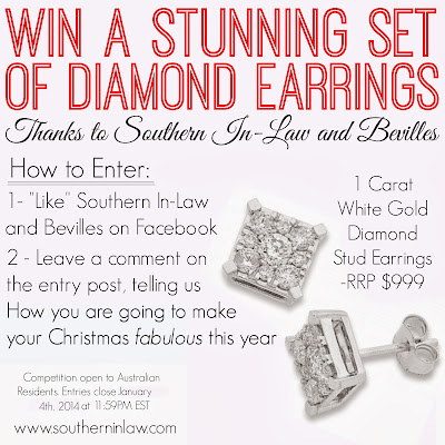 Win a Pair of Diamond Earrings from Bevilles
