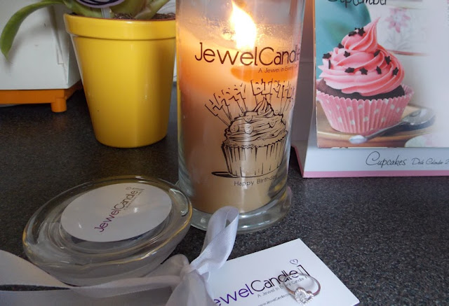 jewelcandle ring and jewellery in a candle