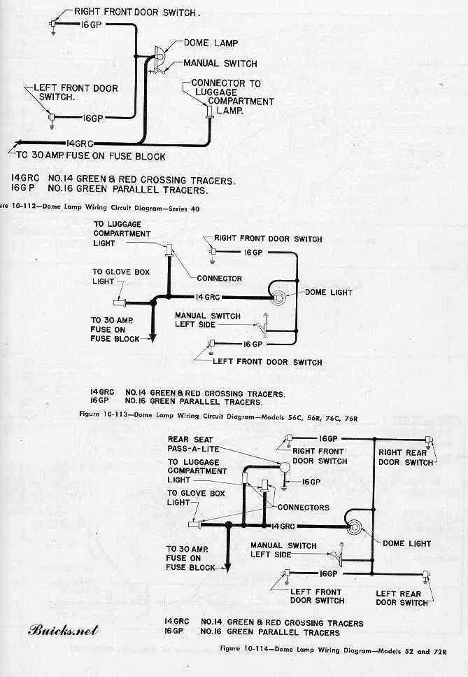 Buick Roadmaster 1952 Dome Lamp Wiring Diagram