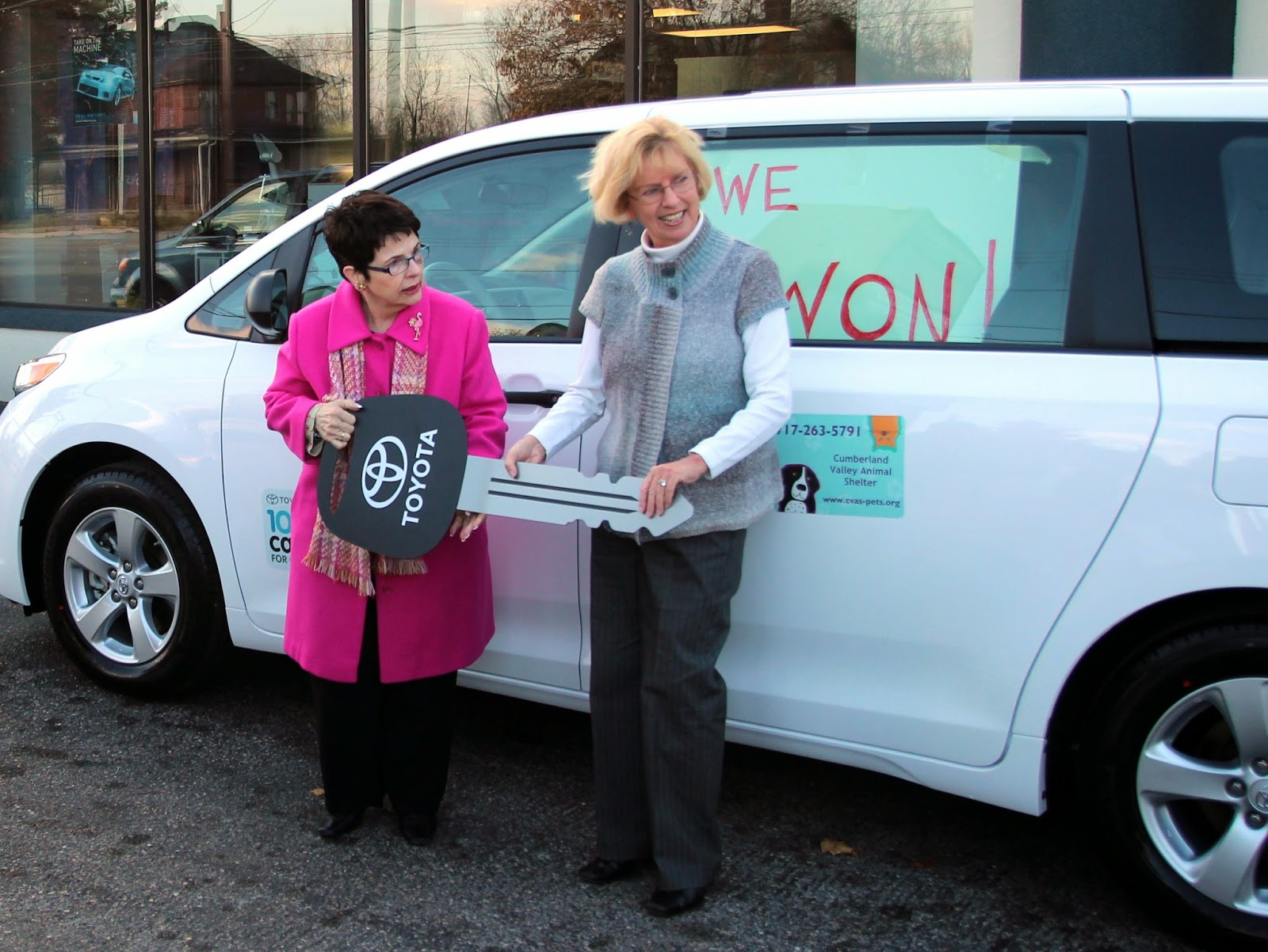 Nice This Summer, Toyota Is Giving Away A Vehicle A Day To A Lucky Non Profit  Charity Over A 100 Day Period, And Chambersburg, PA Has A Contestant In The  Running ...