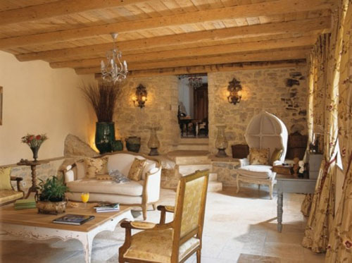 The Simplicity Of White Furnishings And Stone Walls Is Stunning. Baskets  Are Good Accessories For The French Style.