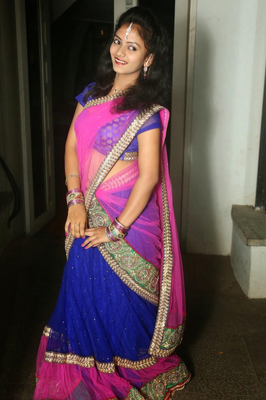 Young actress Jaya Harika in half saree-HQ-Photo-13