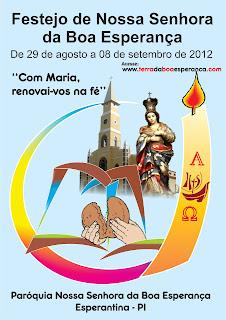 Programação do Festejo de Nossa Senhora da Boa Esperança 2012 Esperantina -PI