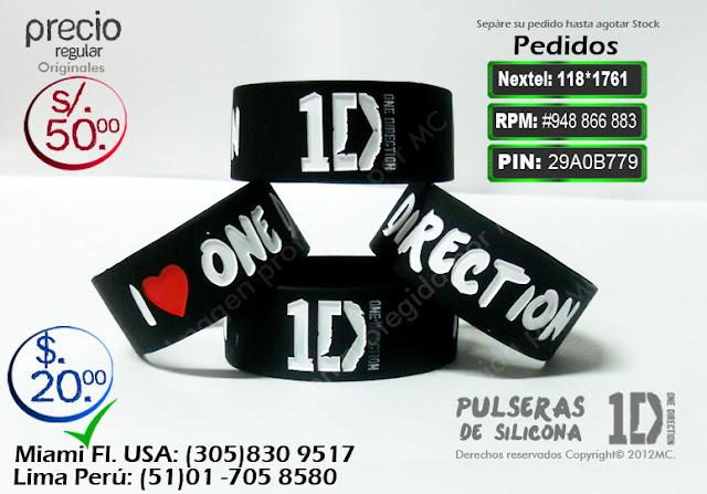 Pulseras one direction | pulseras de silicona | pulseras 100% silicona | pulseras harry | pulseras 1D |