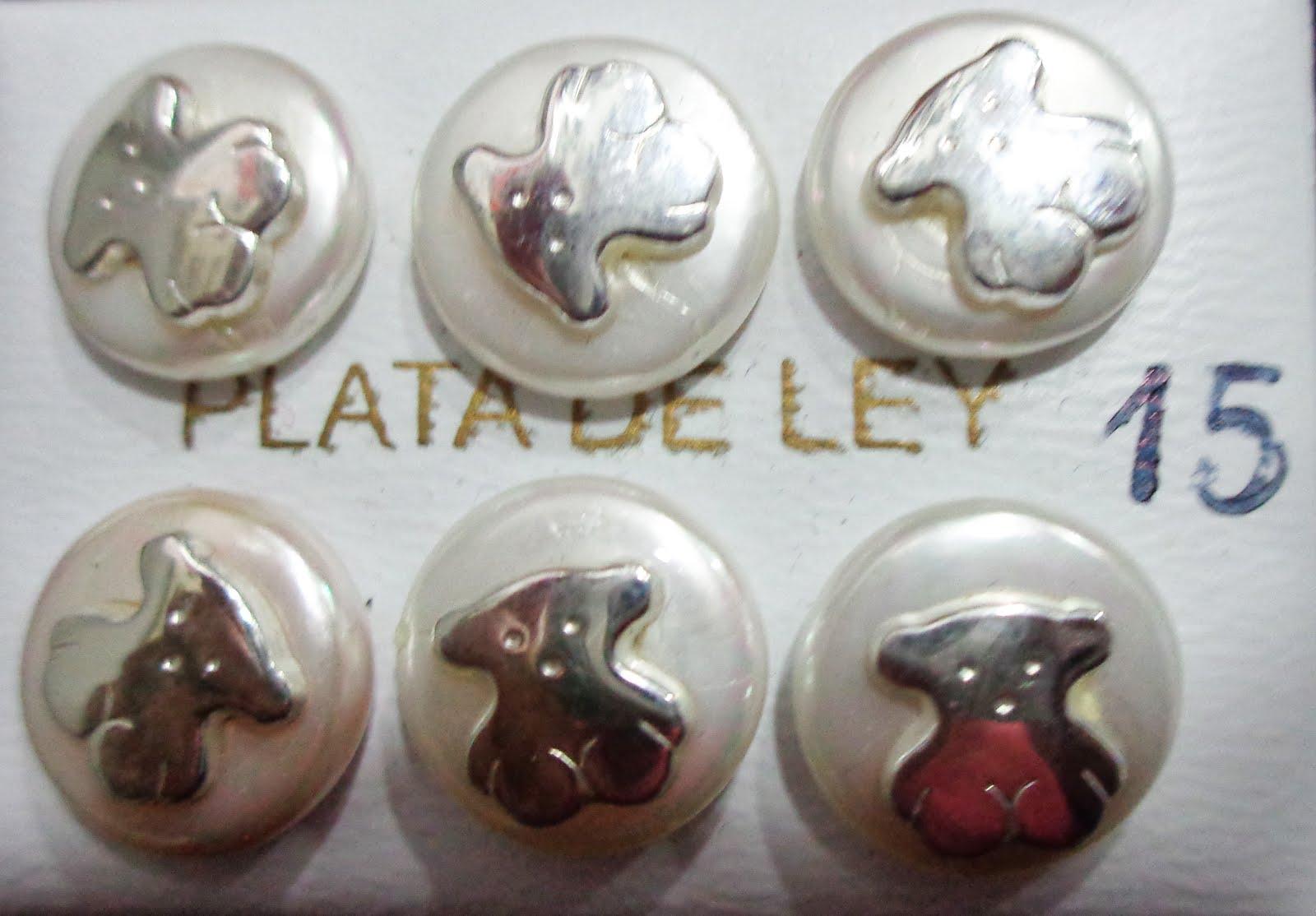Pendientes de perla con oso