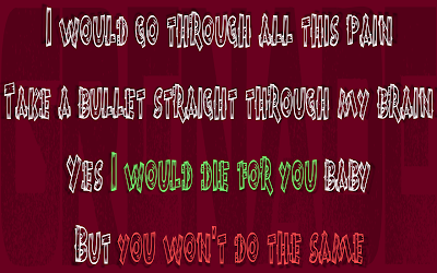 Grenade - Bruno Mars Song Lyric Quote in Text Image