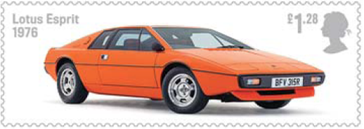 Lotus Esprit on stamp.