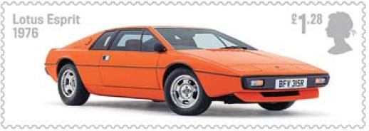 Lotus Esprit on stamp.