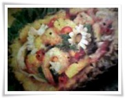 Shrimp & Ponchiglie Salad in Pineapple
