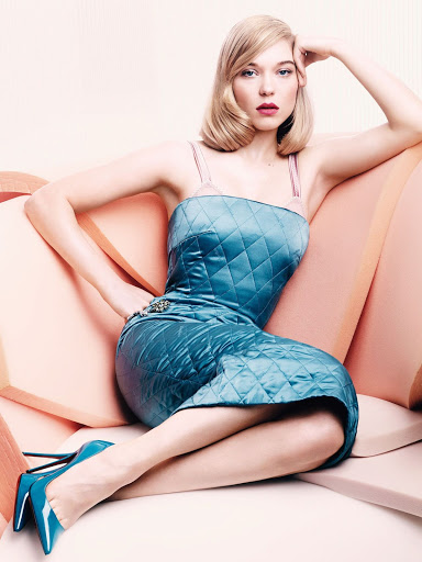 Léa Seydoux sexy Vogue UK magazine model photos