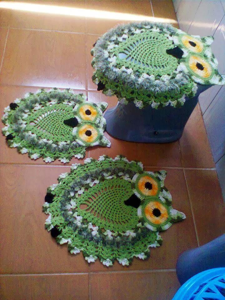 Вязание крючком коврик для туалета 50