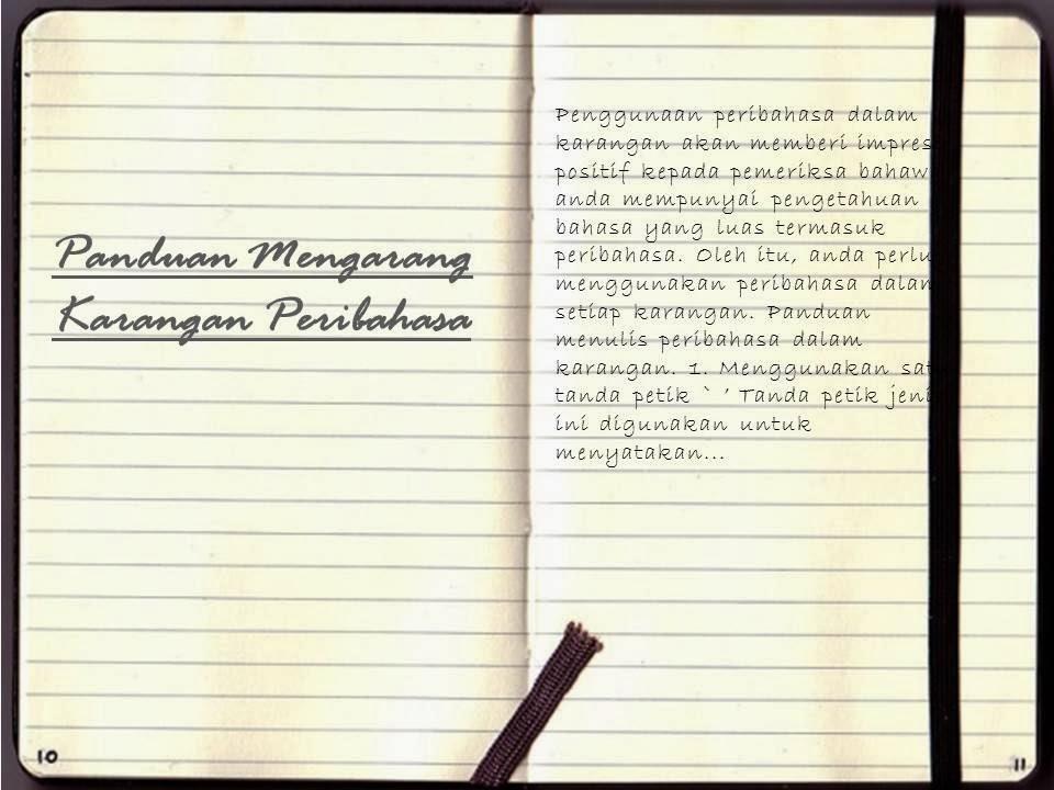 Panduan Mengarang Karangan Peribahasa Karangan Bahasa Melayu Pmr