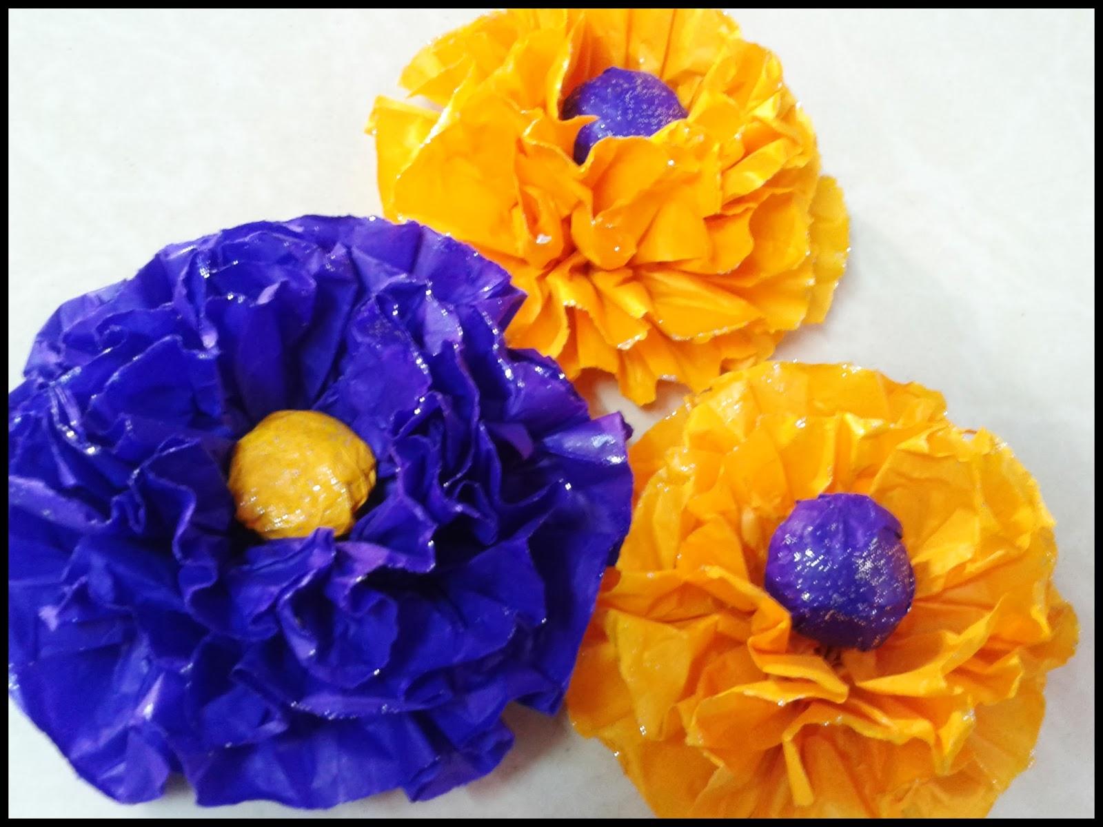 Linas Handmade Cards Tissue Paper Flower