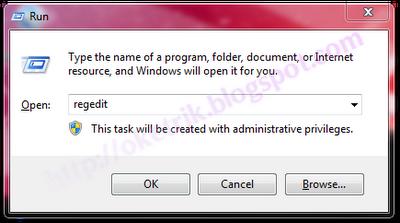 Menghilangkan Shortcut Icon pada Win7