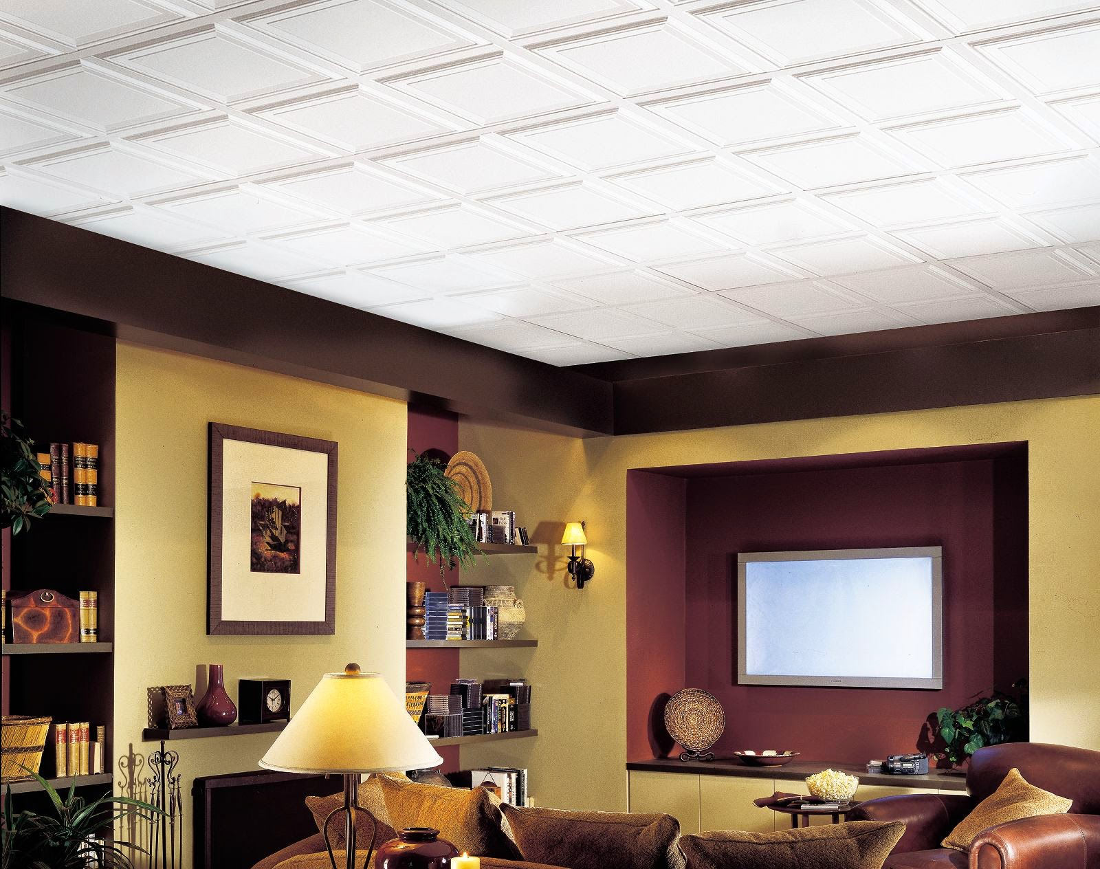 Basement ceilings then and now the interior frugalista basement ceilings then and now dailygadgetfo Choice Image