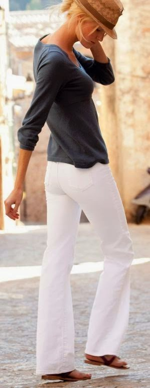 50 Great New Looks For Spring2014 - Style Estate - find more mens fashion on white pant & blouse