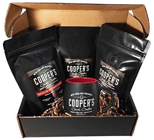 WHISKEY & RUM BARREL AGED COFFEE BOX SET WITH MUG 12OZ