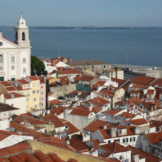 Red-tiled rooftops of Alfama