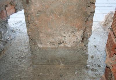 pilar reventado por oxidación