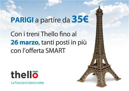 offerta smart trenitalia Parigi Thello