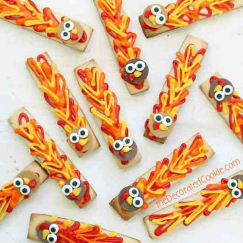 Adorable Turkey Cookie Sticks