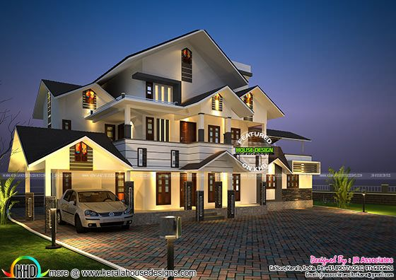 Kerala house plan by JR associates