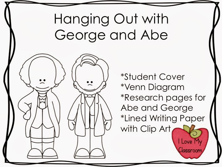 i love my classroom  hanging out with george and abe  freebie