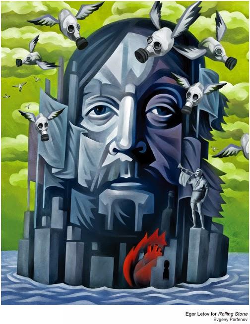 Evgeny Parfenov's Illustrations for Rolling Stone