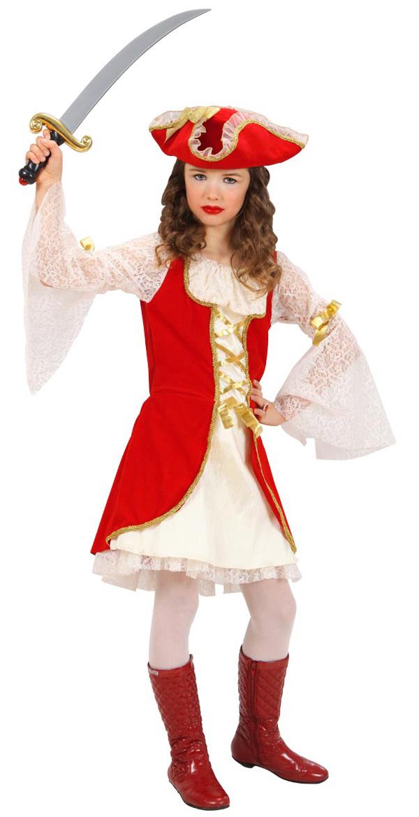 Pige pirat til fastelavn