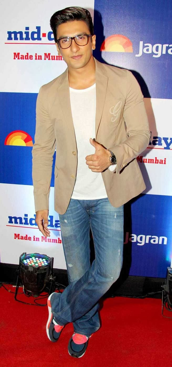 Ranveer Singh at Mid Day Newspaper's Relaunch Party