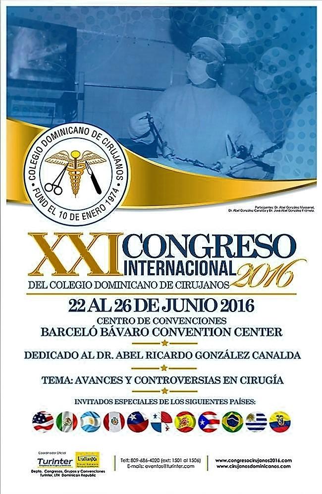 XXI Congreso Internacional del Colegio Dominicano de Cirujanos. 22 al 26 de Junio del 2016