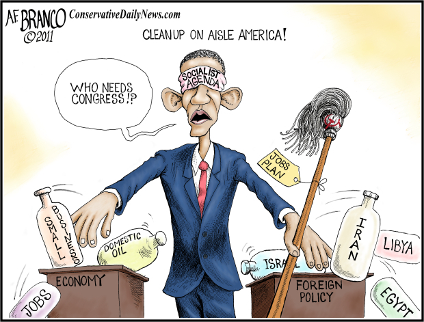 obama damages america cartoons
