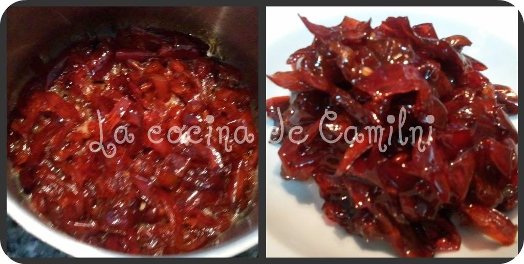 La cocina de camilni canap s de queso con pimientos for La cocina de isasaweis