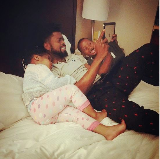 basketmouth and his kids