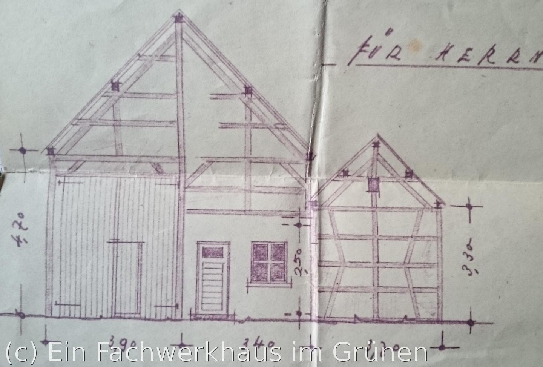 baugenehmigung von 1938 ein fachwerkhaus im gr nen. Black Bedroom Furniture Sets. Home Design Ideas